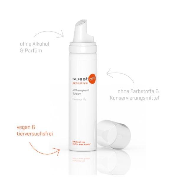 Shop Produktbeschreibung Sweat-off sensitive Schaum