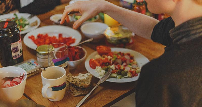 Schwitzen & Schweißausbrüche nach dem Essen