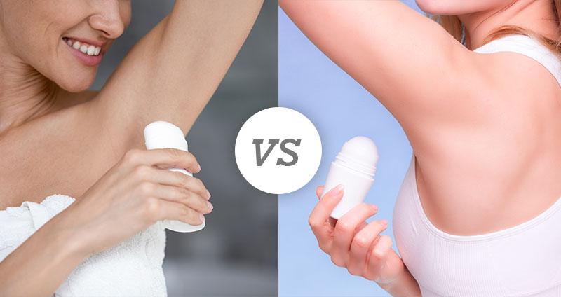 Deodorant Stick vs Roll on