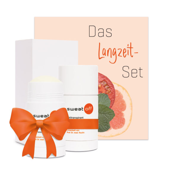Das Lanzeitset Sweat-Off Stick
